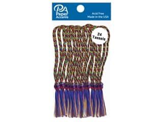 Paper Accents Tassels 24 pc Rainbow