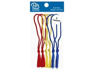Paper Accents Tassels 6 pc Red, Royal, Maize