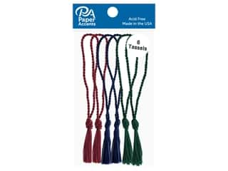 Paper Accents Tassels 6 pc Dark Green, Navy, Maroon