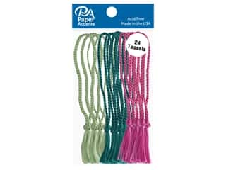 Paper Accents Tassels 24 pc Lime, Teal, Fuchsia