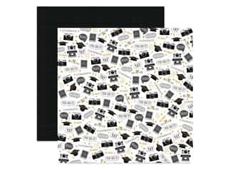 "scrapbooking & paper crafts: DieCuts Collection Graduation Paper 12""x 12"" Grad Memories (25 pieces)"