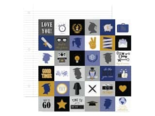 "scrapbooking & paper crafts: DieCuts Collection Graduation Paper 12""x 12"" Grad Icons (25 pieces)"