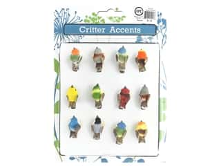 decorative bird: Sierra Pacific Birds Mini With Clip 1.5 in. Assorted 12 pc