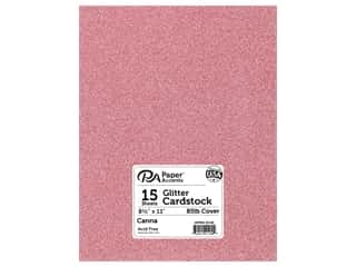 scrapbooking & paper crafts: Paper Accents Glitter Cardstock 8 1/2 x 11 in. #G22 Canna 15 pc.