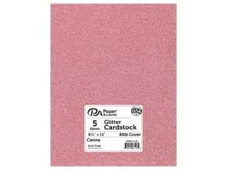 scrapbooking & paper crafts: Paper Accents Glitter Cardstock 8 1/2 x 11 in. #G22 Canna 5 pc.