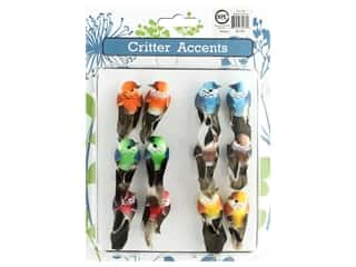 decorative bird': Sierra Pacific Bird Mini With Clip 2.25 in. Assorted 12 pc