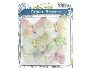 craft & hobbies: Sierra Pacific Butterfly With Clip 3.5 in. Assorted 6 pc