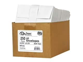 scrapbooking & paper crafts: Paper Accents 4 1/4 x 5 1/2 in. Envelopes 250 pc. #128 White