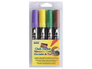 craft & hobbies: Uchida Bistro Chalk Marker Round Tip Set D Yellow Green Brown Purple 4 pc.