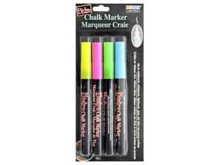 craft & hobbies: Uchida Bistro Chalk Marker Fine Set A Flourescent Pink Blue Green Yellow 4 pc.