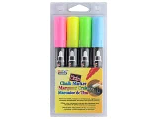 Uchida Bistro Chalk Marker Round Tip Set A Fluorescent Pink Yellow Green Blue 4 pc.