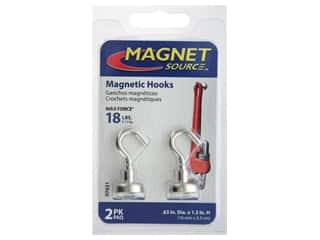Magnets: The Magnet Source Magnet Hook .63 in. 18# 2 pc