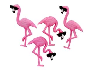 novelties: Jesse James Embellishments - Think Pink Flamingos