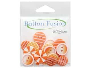 cover button: Buttons Galore Button Fusion 20 pc. Orange Slices