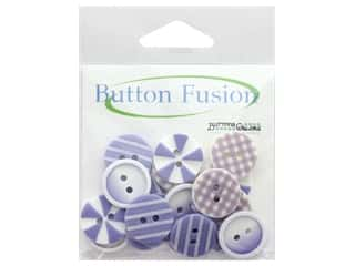 cover button: Buttons Galore Button Fusion 20 pc. Plum Crazy