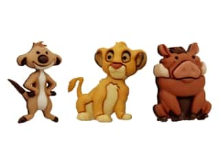 craft & hobbies: Jesse James Embellishments Disney Simba, Timon & Pumbaa