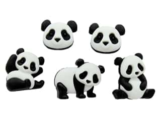 craft & hobbies: Jesse James Embellishments Panda Pile