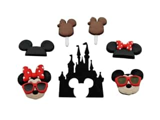 novelties: Jesse James Embellishments - Disney Mickey & Minnie Fun in the Sun