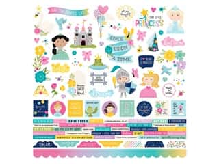 Simple Stories Collection Little Princess Sticker Combo 12 in. x 12 in. (12 sets)