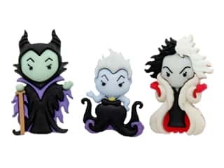 Jesse James Embellishments - Disney Ursula, Cruella DeVille & Maleficent