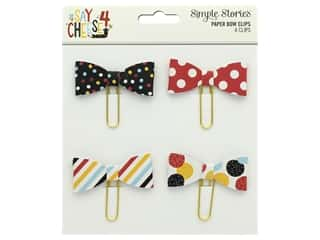 Simple Stories Collection Say Cheese 4 Paper Clips Bows