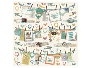 Simple Stories Collection Simple Vintage Traveler Sticker Banners  12 in. x 12 in. (12 pieces)