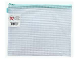 Avery Elle Zippered Vinyl Mesh Pouch Small Aqua
