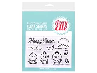 stamp cleaned: Avery Elle Clear Stamp Easter Chicks