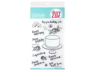 scrapbooking & paper crafts: Avery Elle Clear Stamp Cake For All