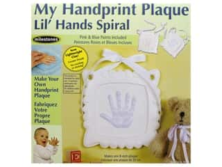 decorative floral: Milestones Lil' Hands Keepsake Kit - Spiral