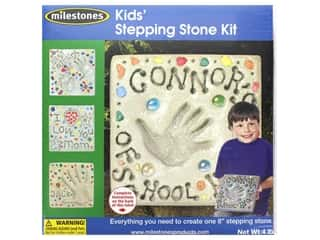 decorative floral: Milestones Stepping Stone Kit 8 in. Kids Square