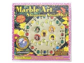floral & garden: Milestones Stepping Stone Kit 8 in. Marble Art Octagon