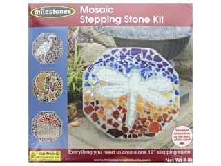 floral & garden: Milestones Stepping Stone Kit 12 in. Octagon Mosaic