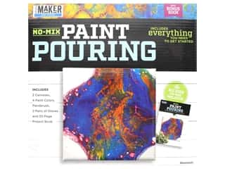 craft & hobbies: Leisure Arts Mini Maker Kit Paint Pouring