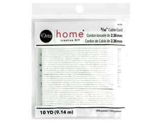 Dritz Home Cable Cord 3/32 in. Polyester White 10 yd