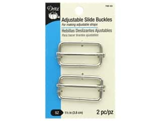 Dritz Slider Adjust Buckles 1.5 in. Nickel 2 pc