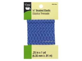 braided elastic: Dritz Braided Elastic 1/4 in. x 1 yd. Zigzag Blue Multi