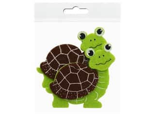 craft & hobbies: Sierra Pacific Decor Felt Animals Sticky Back Turtle 2 pc (6 pieces)