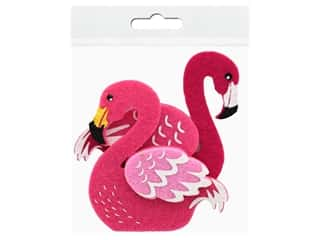 craft & hobbies: Sierra Pacific Decor Felt Animals Sticky Back Flamingo 2 pc (6 pieces)