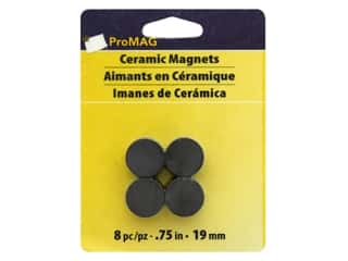 craft & hobbies: ProMag 3/4 in. Extra Strong Ceramic Magnets 8 pc.