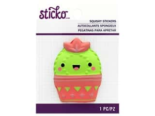 EK Sticko Stickers Squishy Cactus