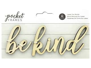 American Crafts Collection Details 2 Enjoy Pocket Frames Laser Cut Word Be Kind