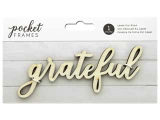 American Crafts Collection Details 2 Enjoy Pocket Frames Laser Cut Word Grateful
