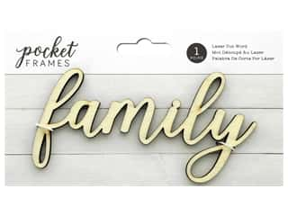 American Crafts Collection Details 2 Enjoy Pocket Frames Laser Cut Word Family