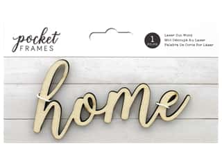 American Crafts Collection Details 2 Enjoy Pocket Frames Laser Cut Word Home
