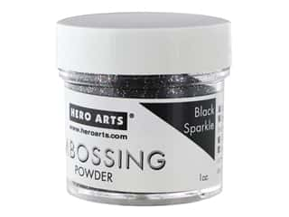 Hero Arts Embossing Powder 1 oz. Black Sparkle