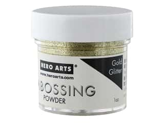 gold embossing powder: Hero Arts Embossing Powder 1 oz. Gold Glitter