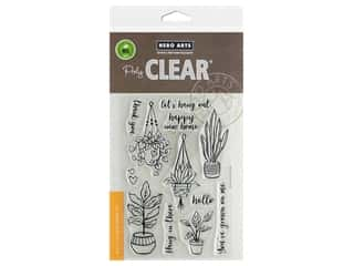 stamp cleared: Hero Arts Poly Clear Stamp Hang In There Pot Plants