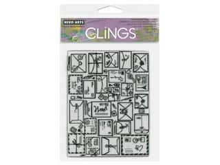 Hero Arts Cling Stamp Mail Jumble Background