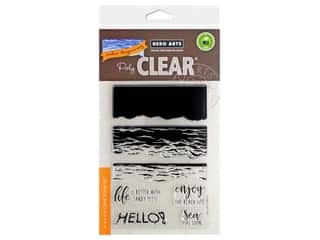 stamp cleared: Hero Arts Poly Clear Stamp Color Layering Waves